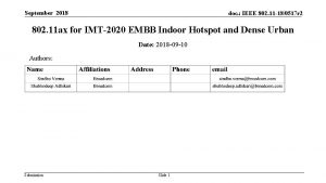 September 2018 doc IEEE 802 11 180517 r