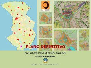 PLANO DEFINITIVO PLANO DIRECTOR MUNICIPAL DO CUBAL PROVNCIA