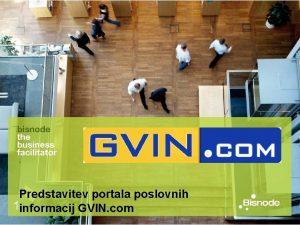Predstavitev portala poslovnih 1 informacij GVIN com GVIN