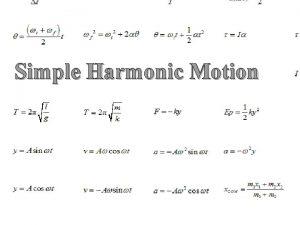 Simple Harmonic Motion Ph ET mass spring applet