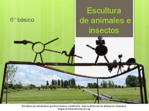 6 bsico Escultura de animales e insectos Escultura