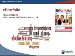 https portfolio ncl ac uk e Portfolio Simon