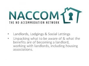 Landlords Lodgings Social Lettings Unpacking what to be