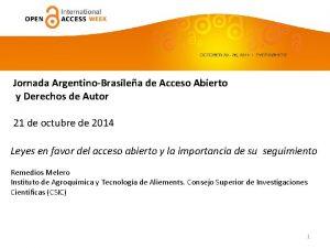 Jornada ArgentinoBrasilea de Acceso Abierto y Derechos de