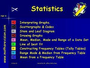 Statistics www mathsrevision com Nat 4 Interpreting Graphs