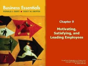 Chapter 9 Motivating Satisfying and Leading Employees Power