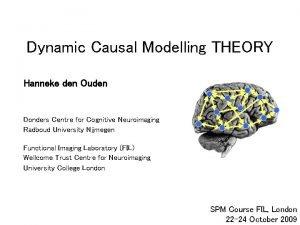 Dynamic Causal Modelling THEORY Hanneke den Ouden Donders