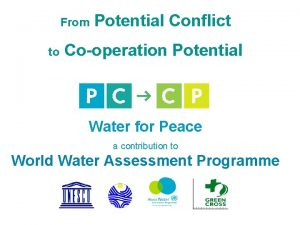From to Potential Conflict Cooperation Potential Water for