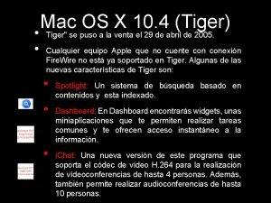 Mac OS X 10 4 Tiger Tiger se