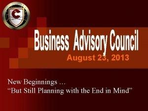 August 23 2013 New Beginnings But Still Planning