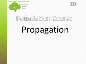 Foundation Course Propagation What is Radio Propagation Radio