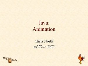 Java Animation Chris North cs 3724 HCI Animation