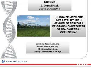 KOREMA 3 Okrugli stol Zagreb 24 rujna 2014