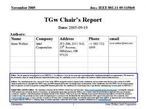 November 2005 doc IEEE 802 11 051150 r