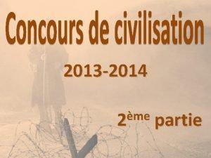 2013 2014 me 2 partie La Premire Guerre