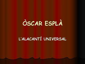 SCAR ESPL LALACANT UNIVERSAL QUI S l Una