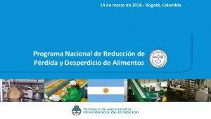 14 de marzo de 2018 Bogot Colombia Programa