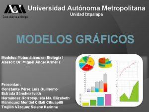 Universidad Autnoma Metropolitana Unidad Iztpalapa MODELOS GRFICOS Modelos