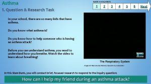 Asthma SLIDE NAVIGATION 1 Question Research Task 1