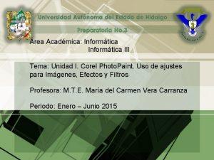 rea Acadmica Informtica III Tema Unidad I Corel