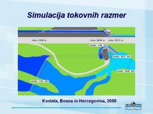 Simulacija tokovnih razmer Kostela Bosna in Hercegovina 2000