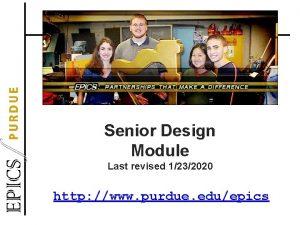 Senior Design Module Last revised 1232020 http www