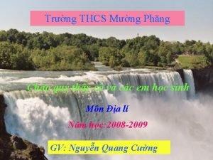 Trng THCS Mng Phng Cho qu thy c