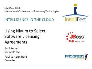 Intelli Fest 2012 International Conference on Reasoning Technologies