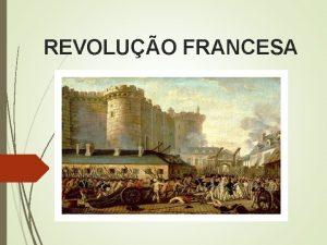 REVOLUO FRANCESA Introduo Foi o conjunto de eventos