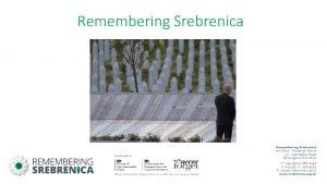 Remembering Srebrenica Bosnia Herzegovina Ethnicreligious groups in Bosnia