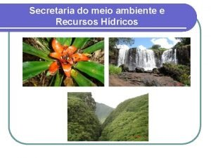 Secretaria do meio ambiente e Recursos Hdricos RESERVA