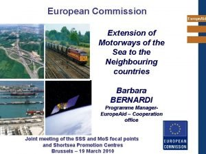 European Commission Europe Aid Extension of Motorways of