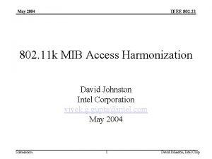 IEEE 802 21 May 2004 802 11 k