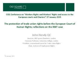 CGIL Conference on Workers Rights and Workers Rights