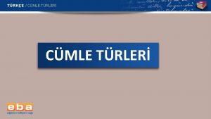 TRKE CMLE TRLER TRKE CMLE TRLER 1 Yklemin