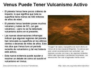Venus Puede Tener Vulcanismo Activo El planeta Venus