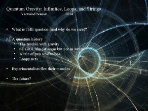 Quantum Gravity Infinities Loops and Strings Vsevolod Ivanov