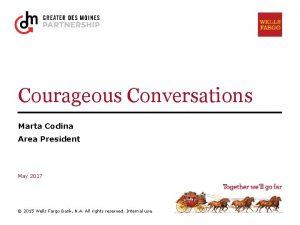 Courageous Conversations Marta Codina Area President May 2017