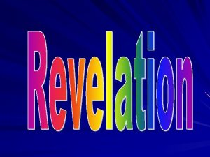 Revelation 1 1 3 The Revelation of Jesus