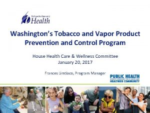 Washingtons Tobacco and Vapor Product Prevention and Control