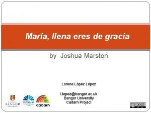 Mara llena eres de gracia by Joshua Marston