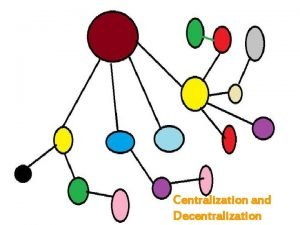 Centralization and Decentralization Contents Centralization Decentralization and performance