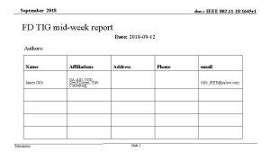 September 2018 doc IEEE 802 11 181645 r