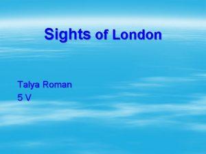 Sights of London Talya Roman 5 V Trafalgar