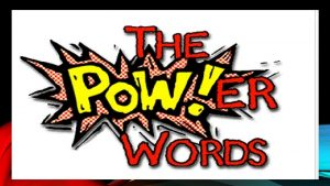 12 POWERFUL WORDS Work with your shoulder partner