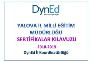SERTFKALAR KILAVUZU 2018 2019 Dyn Ed l Koordinatrl