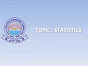 TOPIC STATISTICS PDF CHAPTER LINK STATISTICS Statistics may