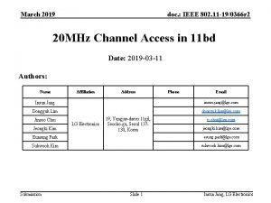 March 2019 doc IEEE 802 11 190366 r