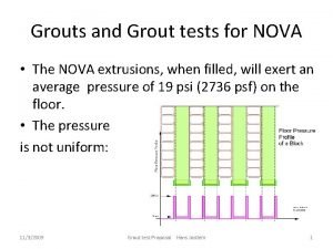 Grouts and Grout tests for NOVA The NOVA