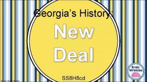 Georgias History New Deal 2014 Brain Wrinkles SS